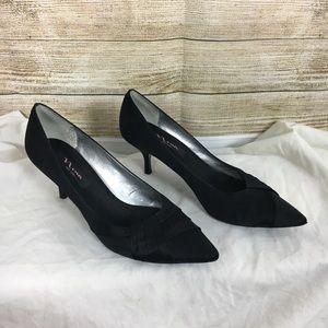 Nina New York Black Satin Heels